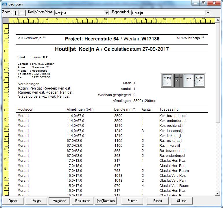 Ats winkozijn advanced for Ats software